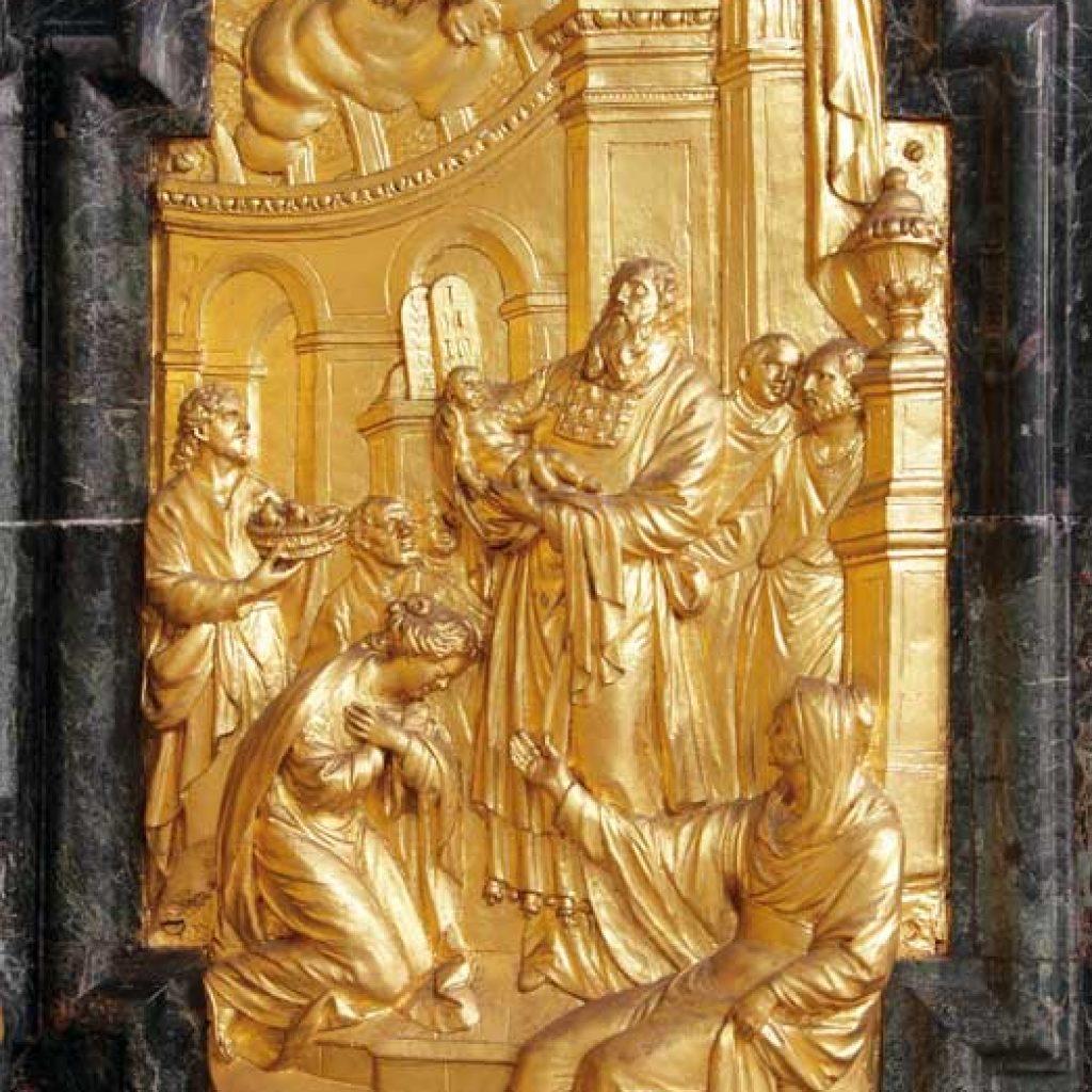 Darstellung des Herrn, Relief in der Klosterkirche Ettal