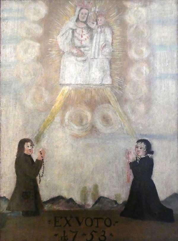 Gnadenbild von Ettal, Votivbild 1753